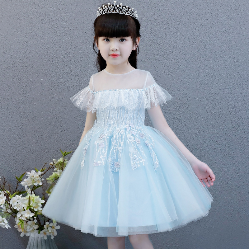 2018 Summer New Children Girls Elegant Noble birthday Wedding Party Lace Princess Dress Kids Hand-made Beading Ball Gown Dress 2018 summer new children girls elegant noble birthday wedding party lace princess dress kids hand made beading ball gown dress