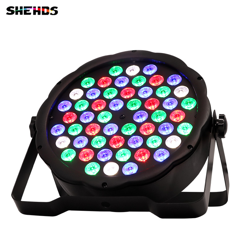 Hot Sales LED Flat Par 54x3W Lighting Led Par Light Strobe DMX Controller Party Dj Disco Bar Strobe Dimming Effect Projector 4xlot free shipping led par can 54x3w rgbw led par light strobe dmx controller for dj disco bar strobe dimming effect projector