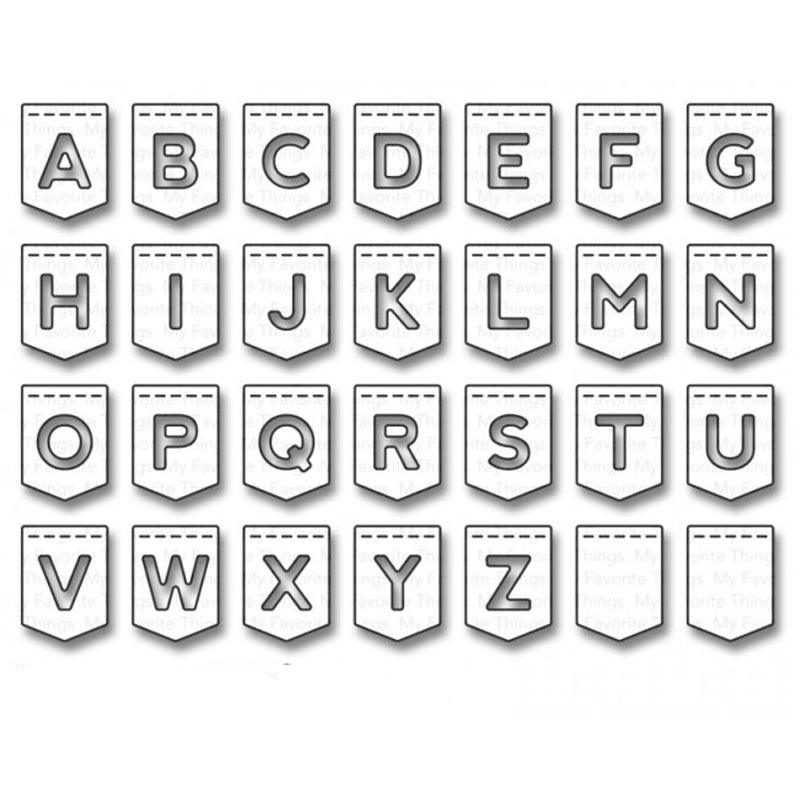 96*71mm Letters Alphabet Metal Cutting Dies 3D DIY