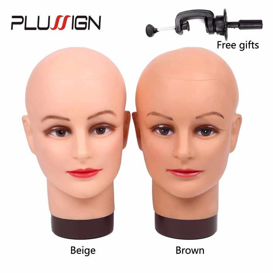 Plussign 20 بوصة لينة Pp الإناث المعرضة رئيس أصلع القزم رئيس ل الباروكات صنع شعر مستعار عرض الباروكات ، مجوهرات ، النظارات الشمسية ، قبعة
