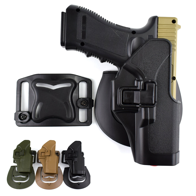 Military Glock 17 Gun Holster Right Hand Tactical Belt For 19 22 23 31 32 Hunting Equipment