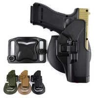 Military Glock 17 Gun Holster Right Hand Tactical Gun Glock Holster Belt Holster For Glock 17 19 22 23 31 32 Hunting Equipment