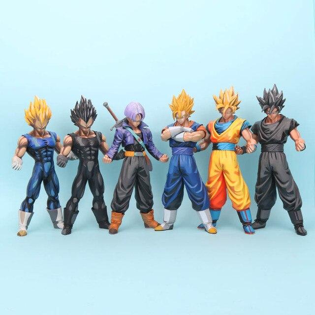 DBZ Dragon ball Z Son Goku Gohan Vegeta Trunks Action Figure Figura Manga Preta Estrelas Mestre Pedaço MSP Goku PVC figura de Brinquedo de presente