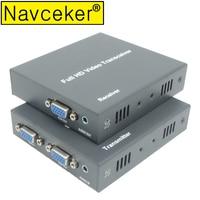 DT215V 660ft Network VGA Over IP Audio Splitter Extender By Ethernet Cat5e Cat6 Cable 1080P VGA LAN Video Transmitter Receiver