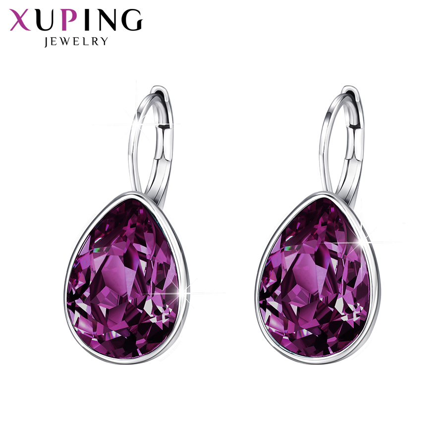 11.11 Deals Xuping Charm Colorful Earrings Thanksgiving Day Christmas Gifts Crystals from Swarovski for Women Gifts XE2108