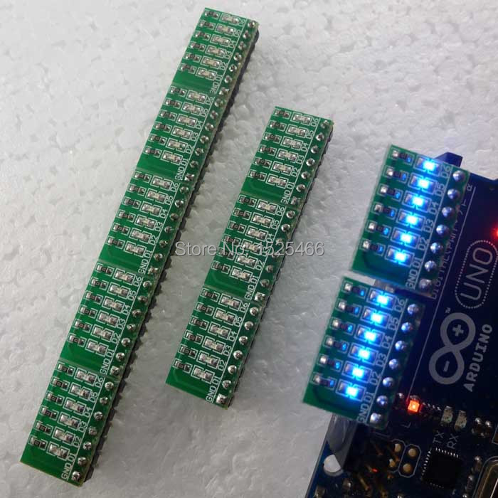 Dutiful 10pcs/lot 3-12v 6 Bits Blue Led Module Display Indicator Board For Marquees Water Lights Breadboard Due Uno Mega2560 Mcu Diy Kit Hot Sale 50-70% OFF Optoelectronic Displays Electronic Components & Supplies