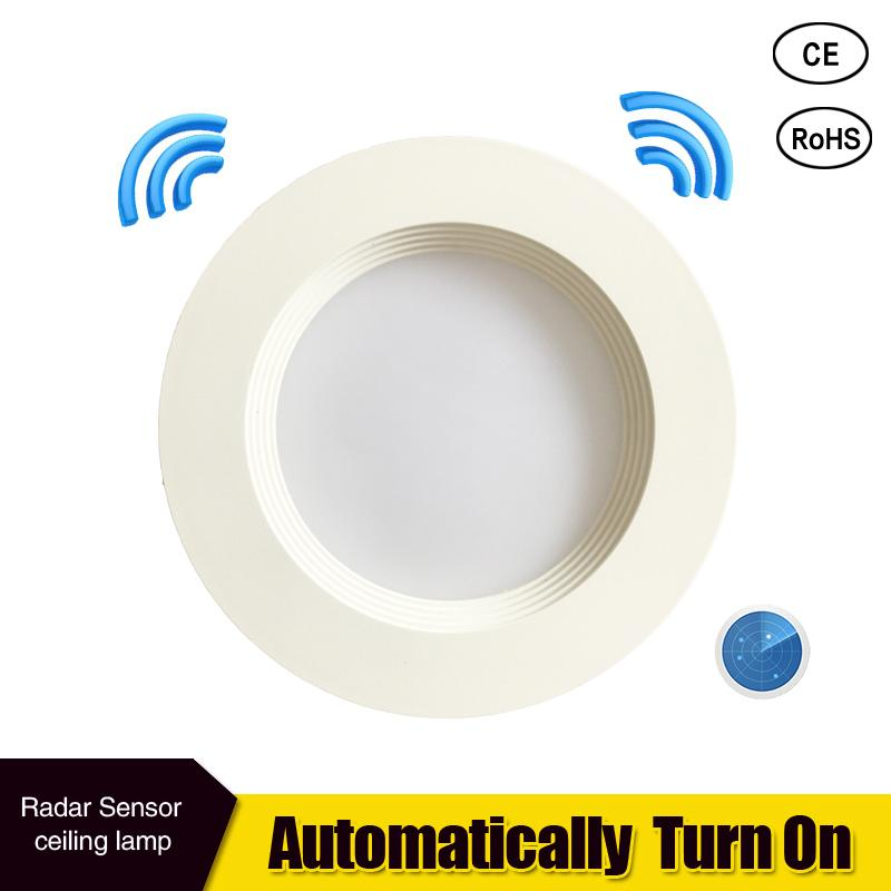Radar Motion Sensor LED Downlight 5W 7W Recessed Ceiling Lamp 110/220V Led Bulb For Living Room Hotel Indoor Spotlight