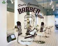Hair Salon Wall Decal Man Barbershop Haircut Vinyl Wall Sticker Interior Window Art Decor Quote Hairstyle Removable Design SY432