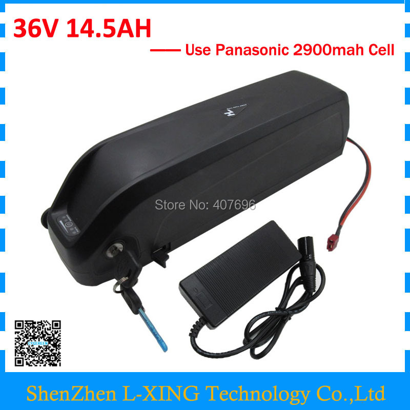 Down tube Hailong battery 36V 14.5Ah bicycle battery 36V 14.5AH with USB Port Use Panasonic 2900mah cell 30A BMS US EU Free Tax
