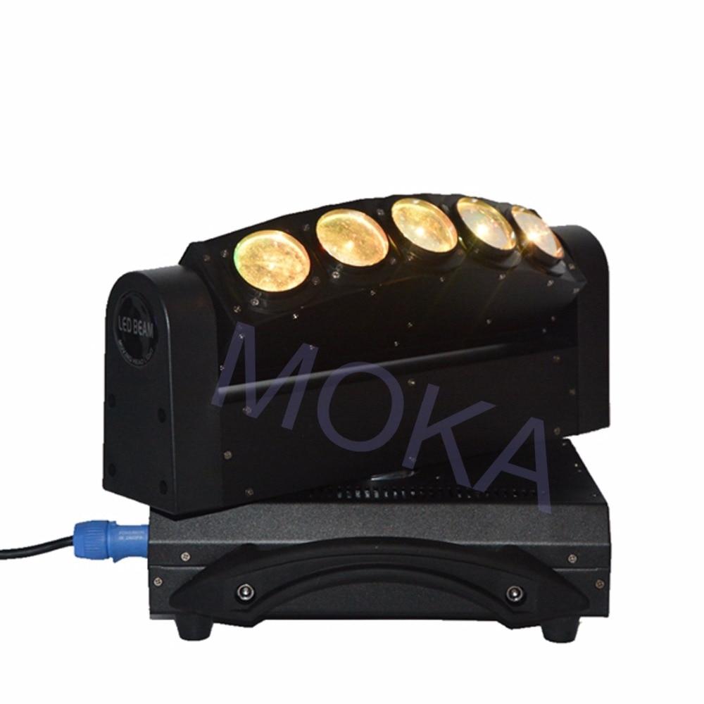 Luz de haz de MOKA de 5 cabezales de luz LED de 5X10 W DMX 4IN1 RGBW Luz de barra de discoteca de escenario en movimiento 3 clavija XLR enchufes TV LIVE SHOW proyector - 2