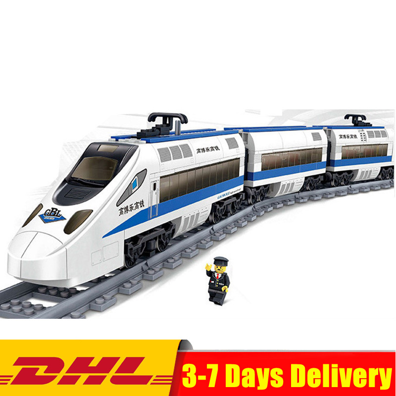 KAZI 98104 415PCS High-speed Rail Train GBL Battery Powered Electric Building Blocks Bricks Model DIY Toys Birthday Gifts salvador dali dali wild