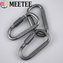 High Quality D Aluminum Alloy Long Nut Buckle,outdoor Equipment Buckle, Quick Hang Buckles Metal Bags Clip  F7-13