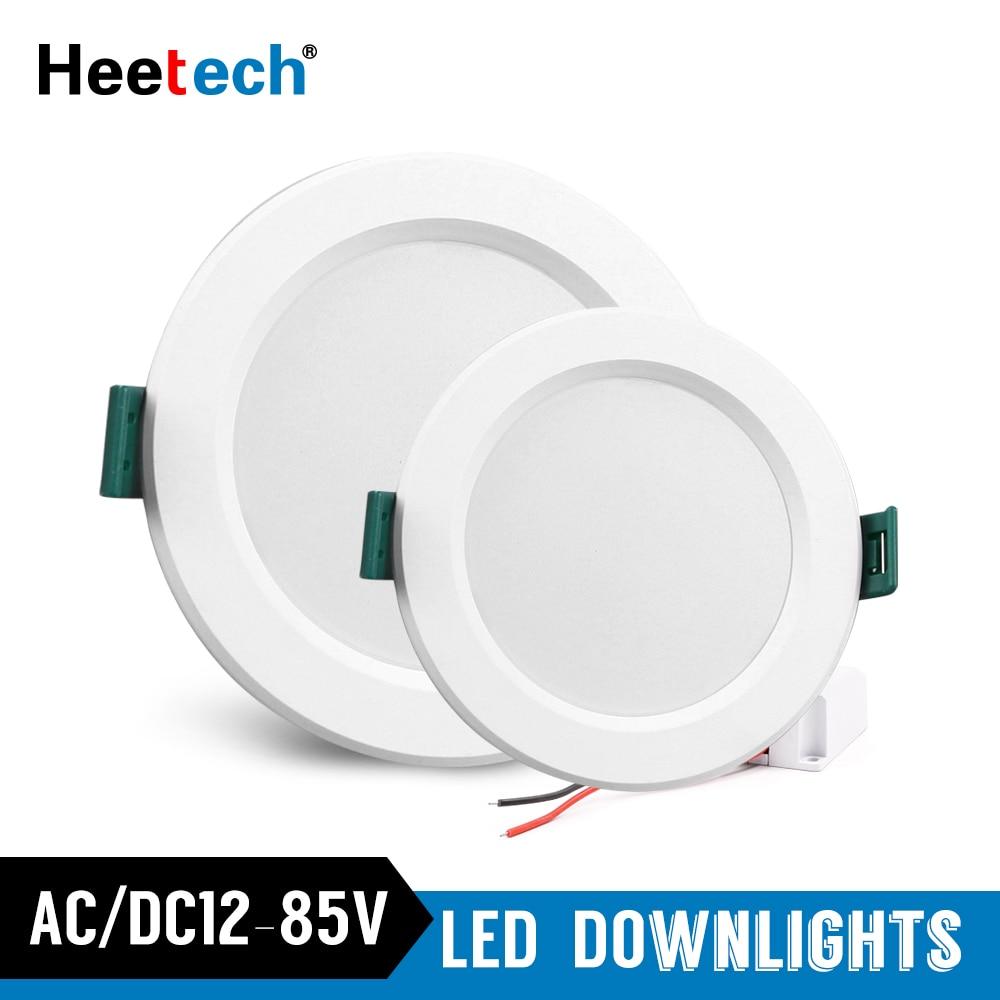 LED Downlight DC/AC 12 V 24 V 36 V 48 V LED panneau lumineux LED plafonnier 5 W 9 W 12 W 15 W 18 W encastré lampe ronde LED éclairage