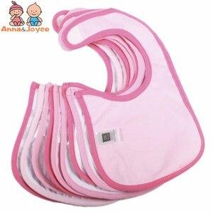 Image 5 - Водонепроницаемые Слюнявчики для девочек, 30 шт./Лот, милые Мультяшные детские нагрудники из хлопка на выбор, детские подарки