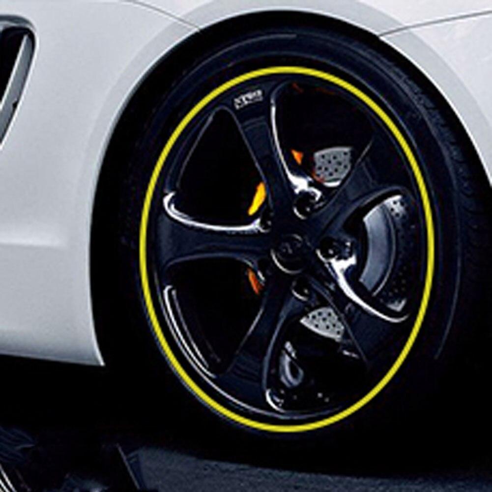 Новый! 8м полосы колесо наклейки и отличительные знаки светоотражающие ленты велосипед мотоцикл автомобиль обода ленты 10 цветов автомобилей стайлинг