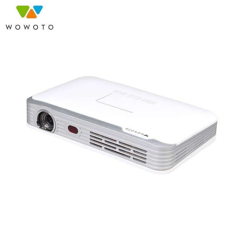 WOWOTO Bluetooth projektor 1920*1080 rozdzielczość bezprzewodowy dostęp do internetu DLP LED przenośne HD projektor do kina domowego projektor Android T8e