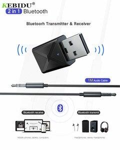 Image 5 - Trasmettitore ricevitore Wireless USB KEBIDU Bluetooth V5.0 Audio musica adattatore Stereo Dongle per TV PC altoparlante Bluetooth cuffie