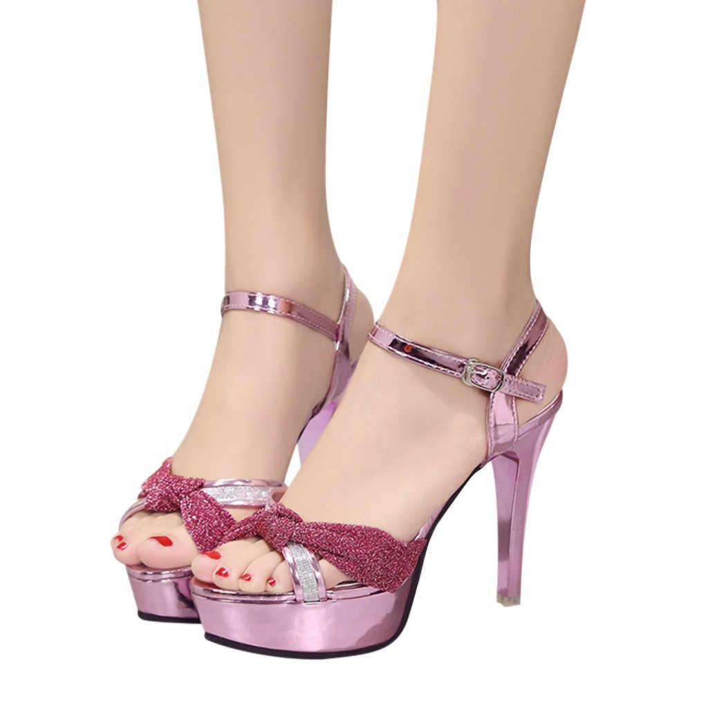215d81a2cf5d03 YOUYEDIAN women sandal heels High-Heeled Shoes Single Shoes Belt Buckle  Wild Sandals Stiletto Sandals