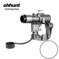 ohhunt Compact 1X30 SVD Red Dot Sight Hunting RifleScopes Rifle Tactical CQB Optical Scope fit Tigr SKS Style Side Mount
