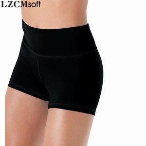 Image 5 - LZCMsoft สตรีผอมกางเกงขาสั้นเต้นรำไลคร่าเอวสูงออกกำลังกายกางเกงยิมนาสติกหญิงประสิทธิภาพการทำงานของกางเกงขาสั้น Dancewear