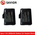 Батарея перчаток с подогревом 7 4 V  2200mAh для перчаток с подогревом  продуктов с подогревом  1 пара
