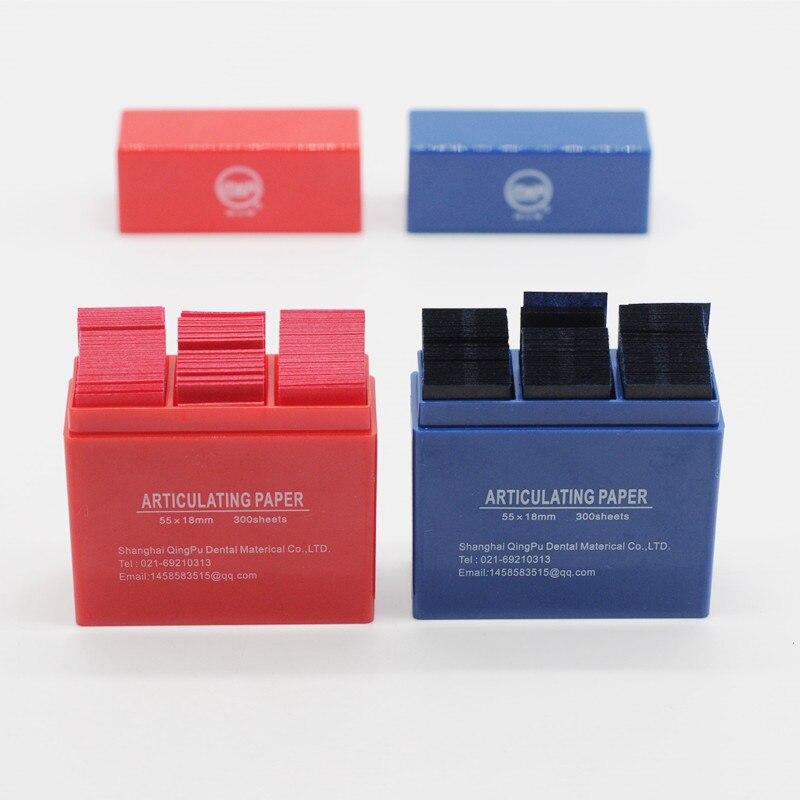 Стоматологическое лабораторное оборудование продукция 300 лист/коробка артикуляционные бумажные полоски 55*18 мм