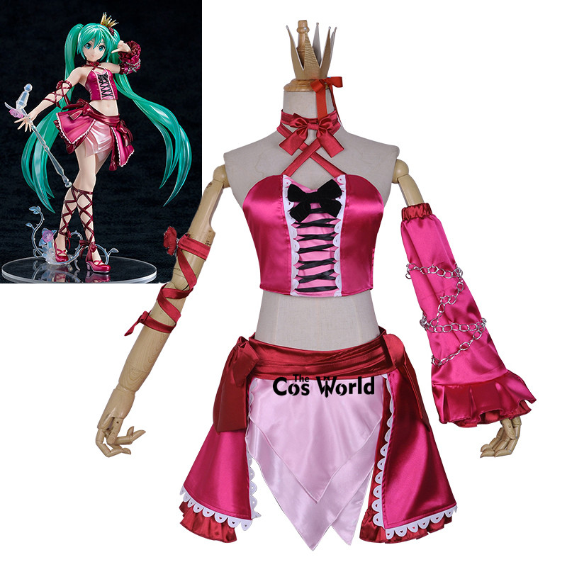 VOCALOID Megurine Luka Cosplay Costume Christmas Winter Warm Red Outfit