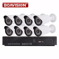 8Ch 1080P NVR Kit Outdoor Bullet IP Camera System P2P Cloud 8 Channel POE NVR System