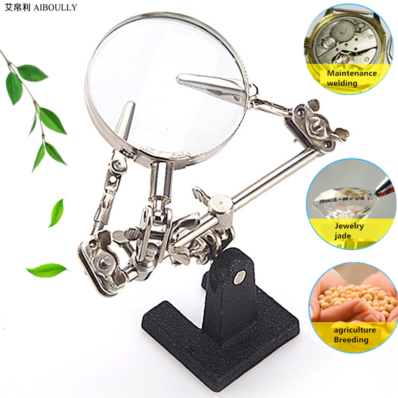 Magnifying glass 5X diagnostic tools+electronic welding repair magnifying glass+magnifying glass 5 times the phone repair table плед флисовый 130х170 см printio милый слоник