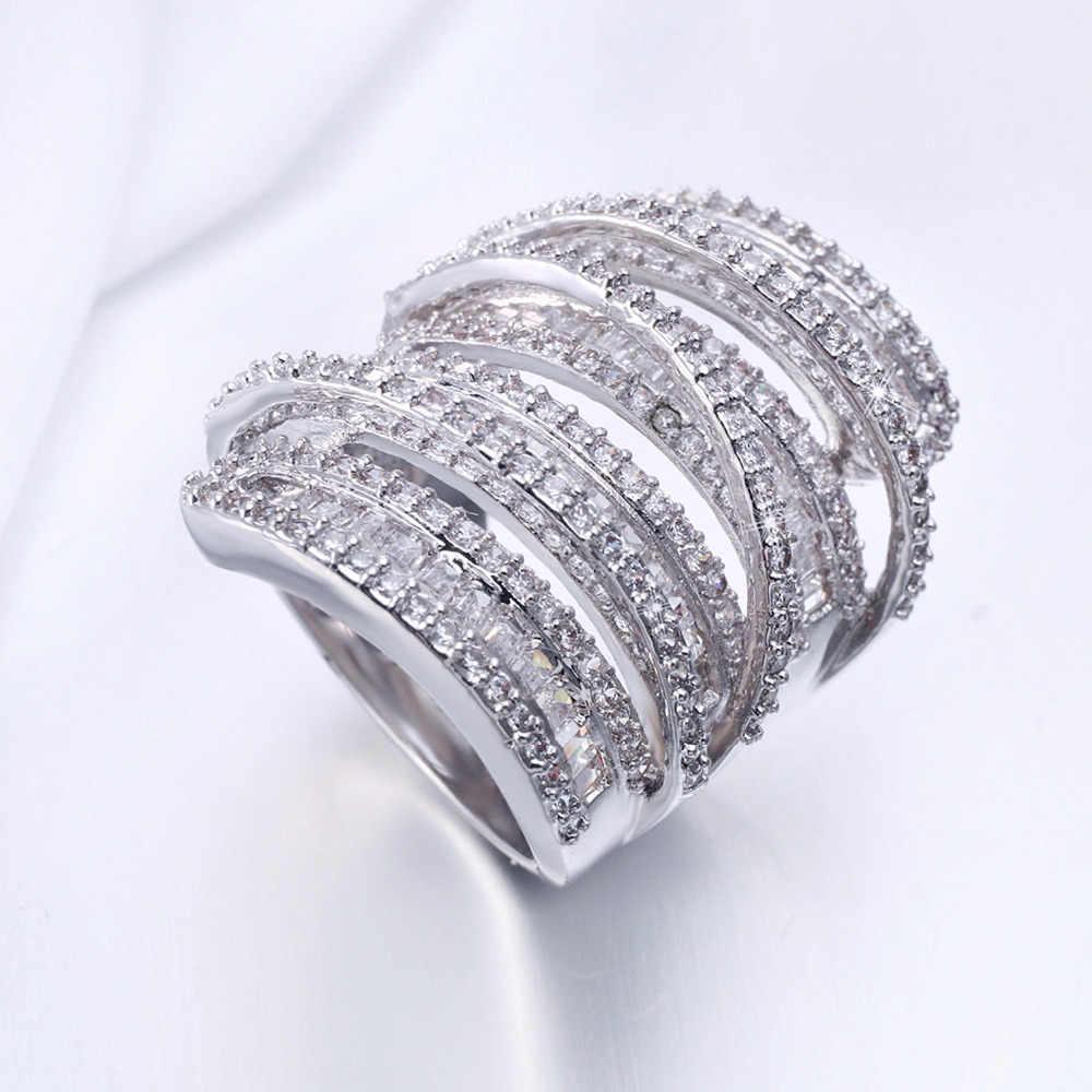 Choucong, женское, мужское модное кольцо, широкие ювелирные изделия, 20ct, AAAAA, циркон, cz, 925 пробы, серебро, обручальное кольцо
