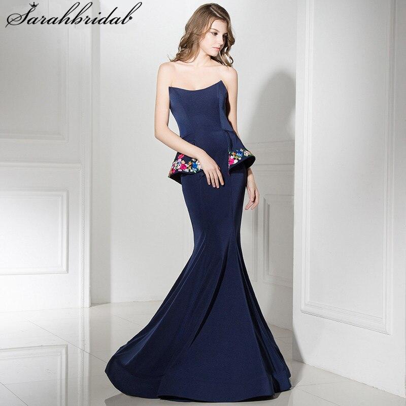 Robes De soirée longues Sexy De haute qualité sirène Bateau fermeture à glissière longueur De plancher robes De célébrité De luxe Robe De soirée LSX367
