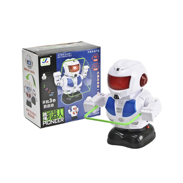 Electronic Rope Jumping Smart Bot Robot Astronaut Kids Music Light Toys Gift 2018 Brusting Christmas Gifts