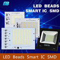 IC inteligente Chips de LED SMD Lâmpada 10 W 20 W 30 W 50 W 90 W 220 V Para Ao Ar Livre holofote Branco Frio/Quente Branco