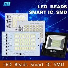 Smart IC SMD LED Chips Lamp 10W 20W 30W 50W 90W 220V For Outdoor FloodLight Cold White/Warm White