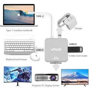 Image 5 - TypeC 4 in1 Thunderbolt 3 USB Type C 허브 HDMI 4K 어댑터 USB C 허브 도크 (Type C 전원 공급 장치 포함) 삼성 S8 MacBook Pro