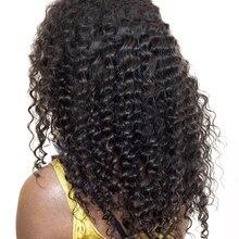 """Бразильские пучки волос глубокая волна 100% Наращивание волос натуральный Цвет Человеческие волосы ткань 10 """"-28"""" Cara цельнокроеное платье"""