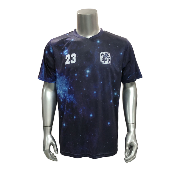 219959657 DIJIUYIN Starry sky design juvenile adult soccer shirt T-shirt team  uniforms sports football uniforms