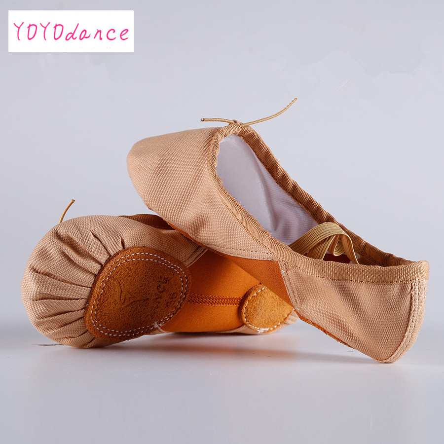 Stretch Canvas Elastic Build-in Arch Woman Girls Soft Ballet Slipper Split Sole Dancing Shoes Ballet Foot Strech FlatsStretch Canvas Elastic Build-in Arch Woman Girls Soft Ballet Slipper Split Sole Dancing Shoes Ballet Foot Strech Flats