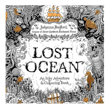 Painting Drawing-Book Lost-Ocean for Adult Relieve-Stress Kill-Time 24-Pages New-Arrive