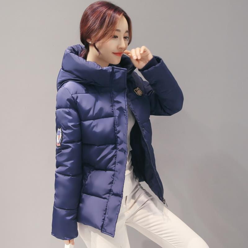 Kısa paragraf Pamuk dolgulu giysiler 2016 Kış Ceket Kadınlar Aşağı ceket Ince Büyük metre Ceket Kapşonlu Sıcak Kış Tutmak ceket G1854