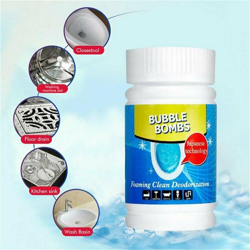 Silny skuteczny środek czyszczący do wc proszek dokładne czyszczenie aktywny szybki szybki środek do spieniania do toalety, rury, zlewu środek do udrażniania odpływów