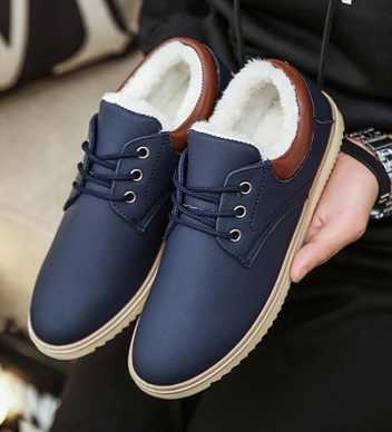 2018 NOVAS Ankle Boots homens preto grande siae 6-11.5 botas de inverno homens sapatos de pele quente botas de neve homens -resistente ao desgaste Botas de Neve