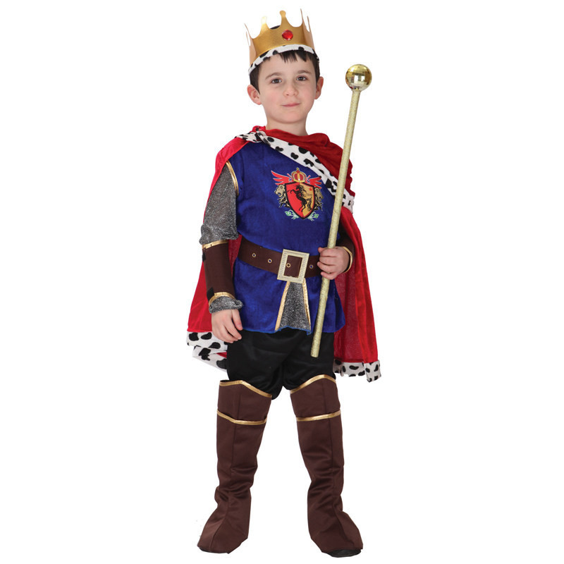 Boy Child The king of the prince Costume Halloween Cosplay Costumes Kids Fancy Children Party Halloween Costume
