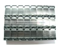 10 Pcs SMT Electronic Component Mini Storage Box 24 Grid Black T156