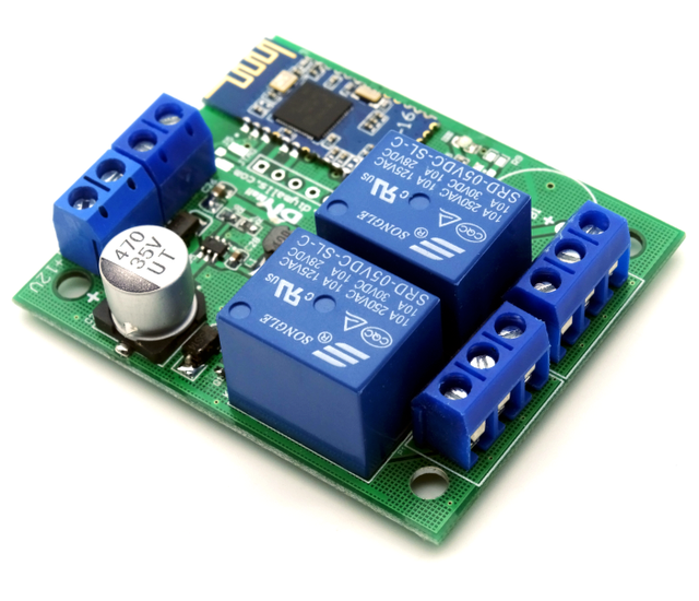 New 2 Channel Relay Module Bluetooth 4 0 BLE for Apple Android Phone IOT