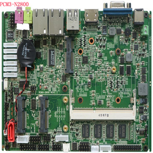 Image 5 - 3.5 inch Embedded Motherboard with 2*SATA 6*COM 6 USB Intel Atom N2800 processor x86 mini itx Mainboard