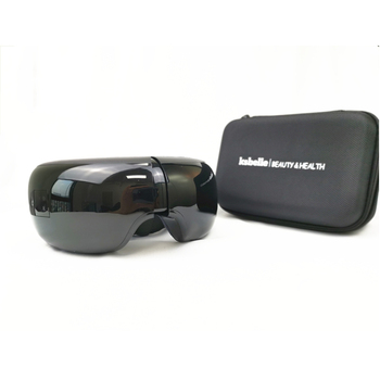 Smart eye massager anti wrinkles eyes massage with music, air compression heated goggles and travel case