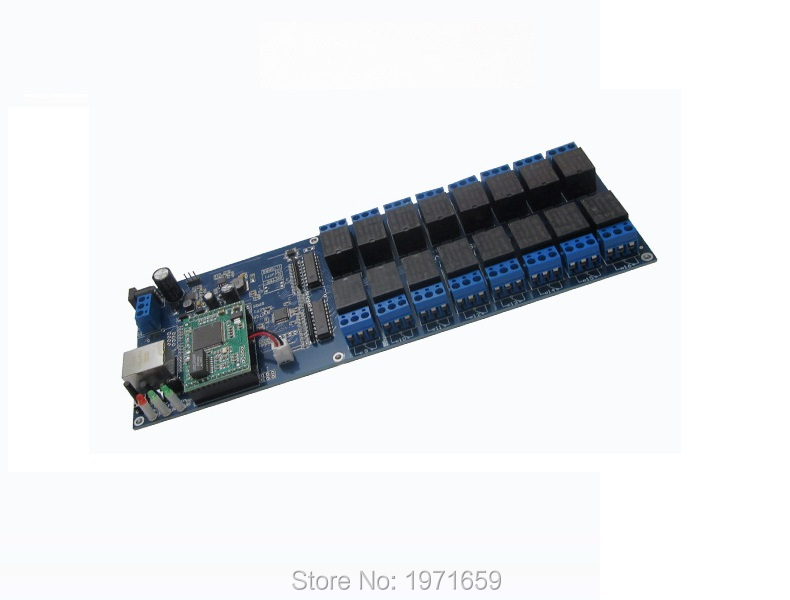 ФОТО industrial Ethernet Relay 16 Channel Output Relay with LAN RJ45 interface for home network automation control switch