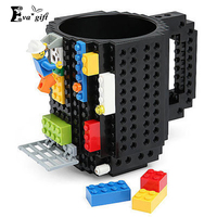 Building Blocks Cup Creative Personality DIY Assembly Cup Coffee Cup Mark Children Cups Travel Beer Mugs