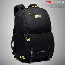 60169873c3e2 NOVAGEAR 6615 DSLR камера сумка Фото Сумка Рюкзак универсальный большой  ёмкость рюкзак для фототехники для Canon